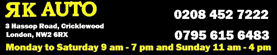 RK Auto - Tyre Shop in Colindale, Cricklewood, Edgware, Mill Hill, Kingsbury, Brent Cross, Neasden, Wembley